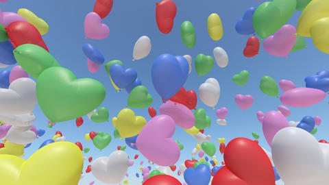 Balloon H Ab Rainbow Stock Video Footage