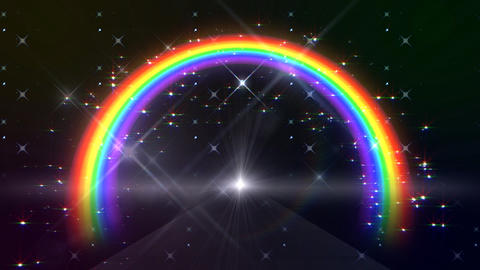 Rainbow C Black Glitter HD Animation