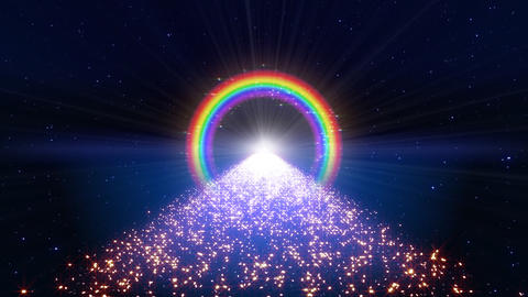 Rainbow F Way B1 Stock Video Footage