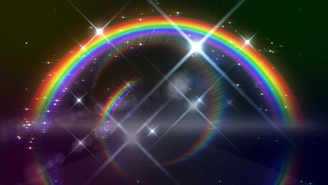 Rainbow A Black Glitter HD Stock Video Footage