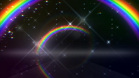 Rainbow A Black Glitter HD Stock Video Footage