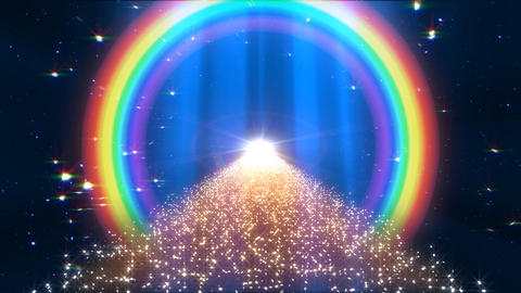 Rainbow A Way B2 HD Stock Video Footage