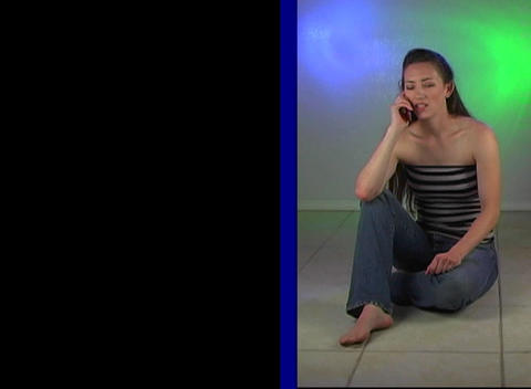 Beautiful Young Woman Talking on her Cell Phone (1 Stock Video Footage