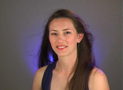 Close-up of a Beautiful Young Brunette (3) Stock Video Footage