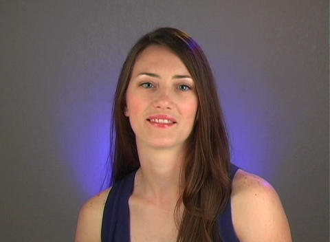 Beautiful Young Brunette is Surprised Stock Video Footage