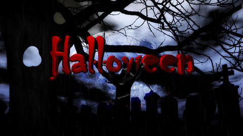 Master with rain Halloween Stock Video Footage
