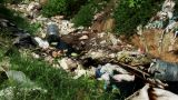 Pull Out Of Dump Rubbish Favela stock footage