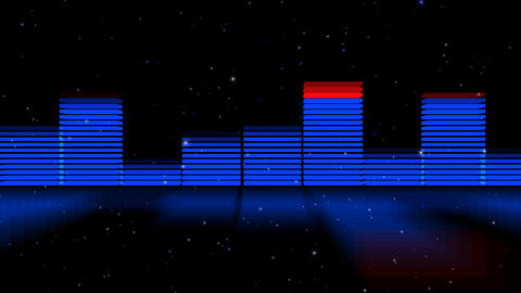 Audio Lights 3D Slow Zoom out 2 Stock Video Footage