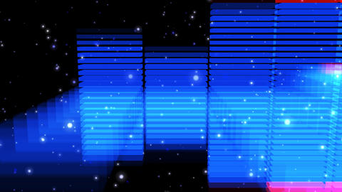 Audio Lights 3D Rotating 3, CG動画素材