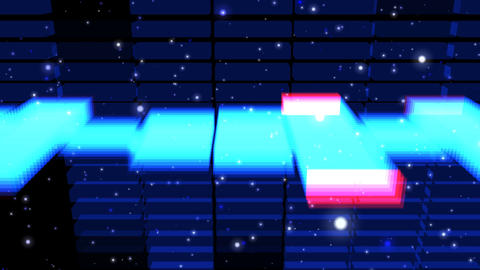 Audio Lights 3D Rotating 3 Animation