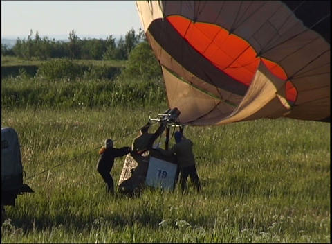 raising balloon Stock Video Footage
