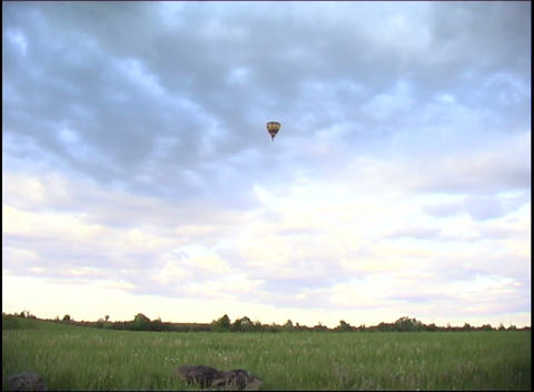 hot air balloon in the sky Footage