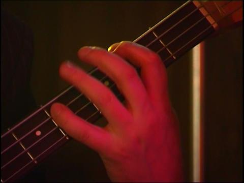 bass guitar Stock Video Footage