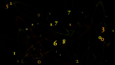circle numeric Stock Video Footage
