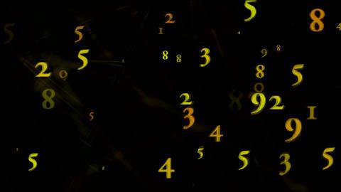 circle numeric Stock Video Footage