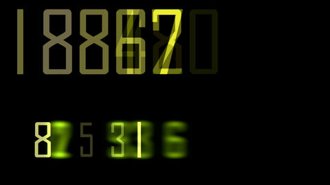 go on numbers Stock Video Footage