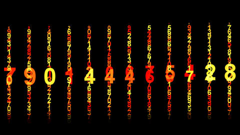 number matrix Stock Video Footage