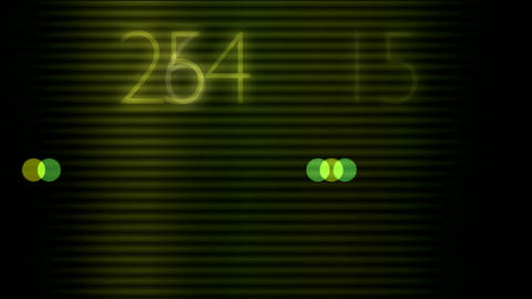 matrix with numbers Animation