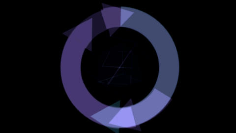 circular arrow and cube Stock Video Footage