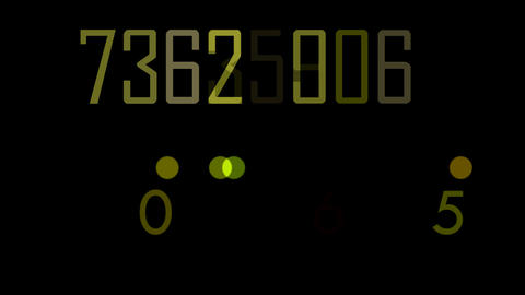 numbers double Stock Video Footage