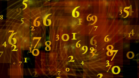 numbers with background Stock Video Footage
