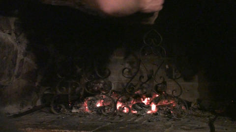 Making fire Stock Video Footage