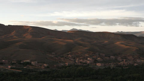 Sunset in Morocco Stock Video Footage