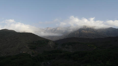 Clouds over Imlil Stock Video Footage