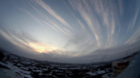 1178 Sky Fish Horizon HD J96 Stock Video Footage