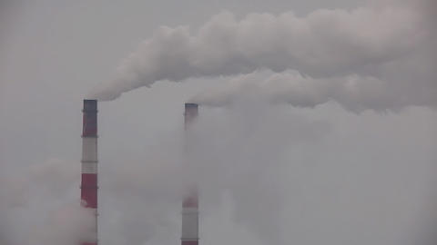 Pipe with smoke close up Stock Video Footage