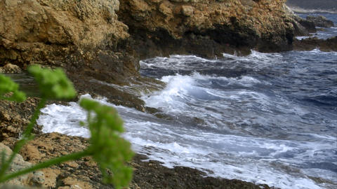rough waves at coast Stock Video Footage