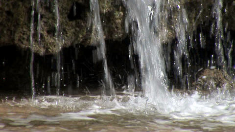 Water Cascading of Old Reef Stock Video Footage