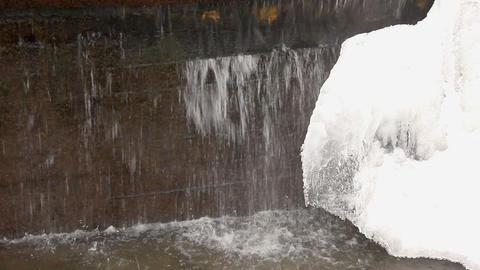 1582 Winter WaterFall HD J96 Stock Video Footage