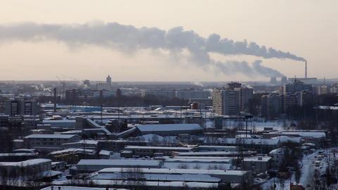 1371 Winter City TL HD J96 Stock Video Footage