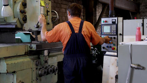 Man work with machine drill Stock Video Footage