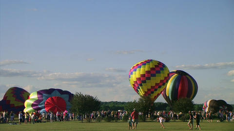 Hot Air Balloon Lift-Off Stock Video Footage