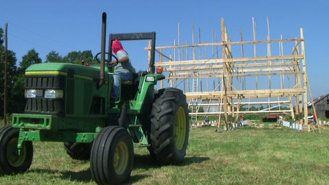 Barn Building Frame Stock Video Footage