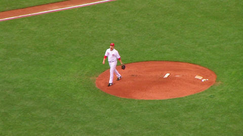 Pitcher Delivers Ball 03 Stock Video Footage