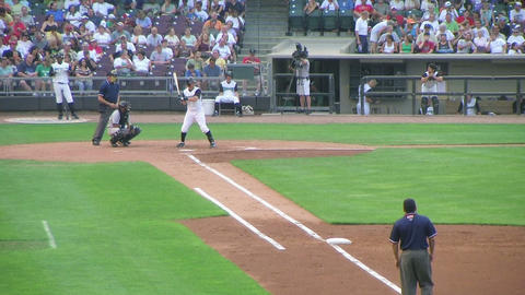 Baseball Out At First Base 04 Stock Video Footage