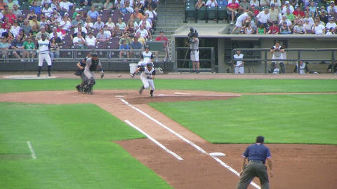 Baseball Out At First Base 04 Footage