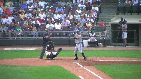 Baseball Batter Walked 02 Stock Video Footage