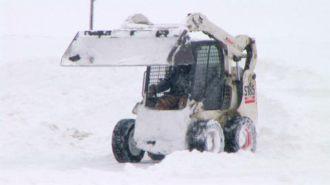 Bobcat Plowing Snow Footage
