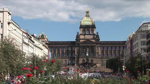 National museum in Prague Czech Republic Stock Video Footage