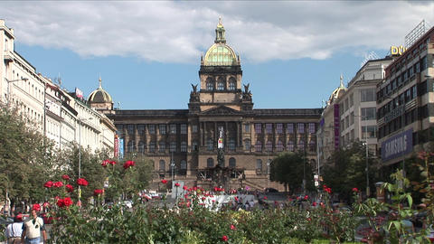 View of National museum in Prague Czech Republic Footage