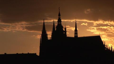 Prague Castle at magic hour in Prague Czech Republ Footage