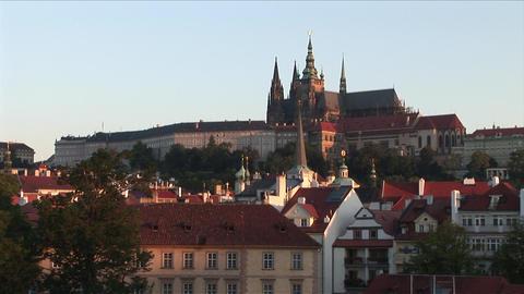 View of Prague Castle in Prague Czech Republic Footage