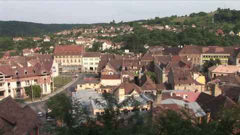 Sighisoara City in Transylvania Romania Footage