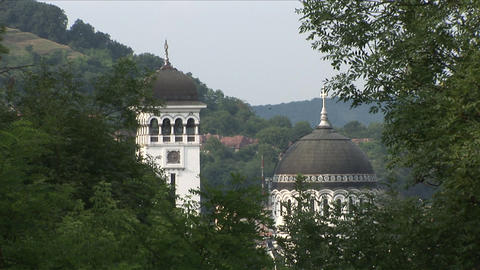 Sighisoara Town Orthodox Church Transylvania Roman Footage