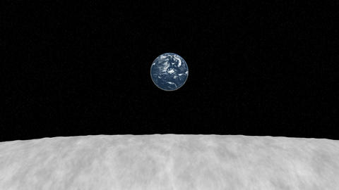 earth view from moon surface Animation