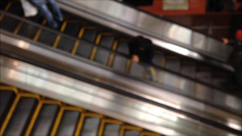 Defocus escalator Footage